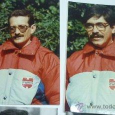 Coleccionismo deportivo: LOTE 2 FOTOS ORIGINALES COLOR. PILOTOS RALLYE ESPAÑOLES. AÑOS 80. Lote 23441369