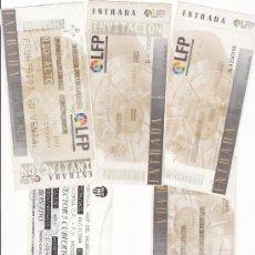 Coleccionismo deportivo: 5 ENTRADAS FÚTBOL VALENCIA CF - LOTE 4. Lote 25369706