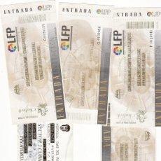 Coleccionismo deportivo: 5 ENTRADAS FÚTBOL VALENCIA CF - LOTE 5. Lote 25369747