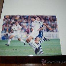 Coleccionismo deportivo: REAL MADRID: FOTO DE RAFAEL MARTÍN VÁZQUEZ. 1995. Lote 26569388