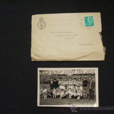 Coleccionismo deportivo - REAL SOCIEDAD GIMNASTICA TORRELAVEGA - SOBRE DE LA ENTIDAD + FOTOGRAFIA DE LA PLANTILLA - 1967/1968 - 29054550