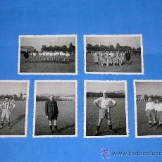 Coleccionismo deportivo: FOTOGRAFÍAS ORIGINALES PARTIDO FÚTBOL EQUIPOS TÉCNICA - TALLER, OCTUBRE DE 1950. . Lote 29435487
