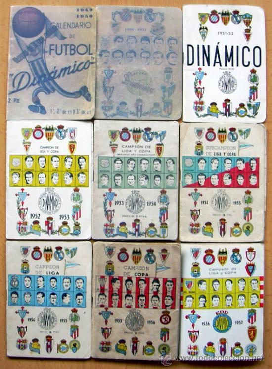 Coleccionismo deportivo: Colección de calendarios Dinámico de la 1949-50 a la 2010-2011 - 151 tomitos - ver fotos interiores - Foto 2 - 30206834