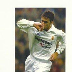 Coleccionismo deportivo: FOTO Nº80 RAUL CELEBRACION - FOTO 10X15 COLECCION REAL MADRID MAGIC BOX 2002-2003 . Lote 31071919