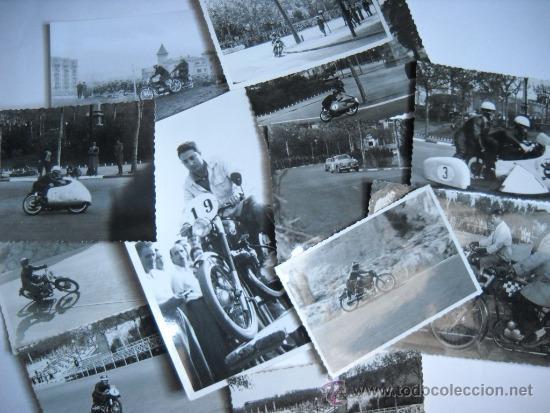 CARRERAS DE MOTOCICLISMO - 15 FOTOGRAFIAS - MONTJUIC - 1950-1960'S (Coleccionismo Deportivo - Documentos - Fotografías de Deportes)