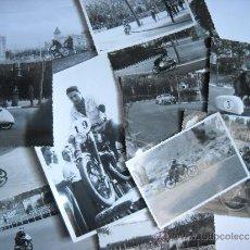 Coleccionismo deportivo: CARRERAS DE MOTOCICLISMO - 15 FOTOGRAFIAS - MONTJUIC - 1950-1960'S . Lote 31703921