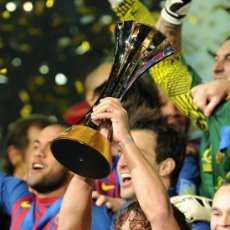 Coleccionismo deportivo - FOTO 20x30 FC BARCELONA CAMPEON MUNDIAL CLUBS 2011 - PUYOL - ALTA CALIDAD HQ POSTER CLUBES - 149877344