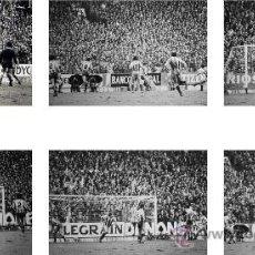 Coleccionismo deportivo: LOTE DE 6+1 FOTOGRAFIAS SECUENCIA GOL DE ZAMORA REAL SOCIEDAD CAMPEON LIGA 80-81. Lote 161823936