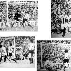 Coleccionismo deportivo: LOTE DE 4+1 FOTOGRAFIAS SECUENCIA GOL LOPEZ UFARTE REAL SOCIEDAD CAMPEON LIGA 81-82. Lote 203803812