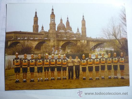 POSTAL EQUIPO CICLISTA CAI (Coleccionismo Deportivo - Documentos - Fotografías de Deportes)