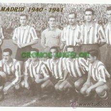 Coleccionismo deportivo: FOTO 10X15 CM. ATLETICO DE MADRID - ALINEACION LIGA TEMPORADA 1940-1941 (AT. AVIACION). Lote 33557817