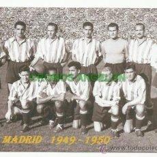 Colecionismo desportivo: FOTO 10X15 CM. ATLETICO DE MADRID - ALINEACION TEMPORADA 1949-1950. Lote 33557844