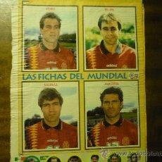 Coleccionismo deportivo: HOJA REVISTA CON JUGADORES SELECC.ESPAÑOLA. Lote 33612385