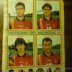 Coleccionismo deportivo: HOJA REVISTA CON JUGADORES SELECCION ESPAÑOLA FUTBOL. Lote 33612401