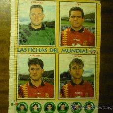 Coleccionismo deportivo: HOJA REVISTA FUTBOL CON JUGADORES SELECCION ESPAÑOLA. Lote 33612410