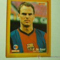 Coleccionismo deportivo: F. DE BOER JUGADOR BARCELONA C.F.-SOBRE CARTON -PIE PARA PONERSE DE SOBREMESA. Lote 33612568