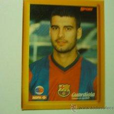 Coleccionismo deportivo: FOTO CARTON DE GUARDIOLA F.C.BARCELONA .-CON PIE PARA COLOCAR SOBREMESA. Lote 33612607