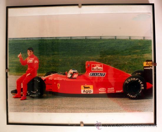 FOTOGRAFIA ENMARCADA DE JEAN ALESI FERRARI * F1 (Coleccionismo Deportivo - Documentos - Fotografías de Deportes)