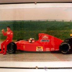Coleccionismo deportivo: FOTOGRAFIA ENMARCADA DE JEAN ALESI FERRARI * F1. Lote 34015371
