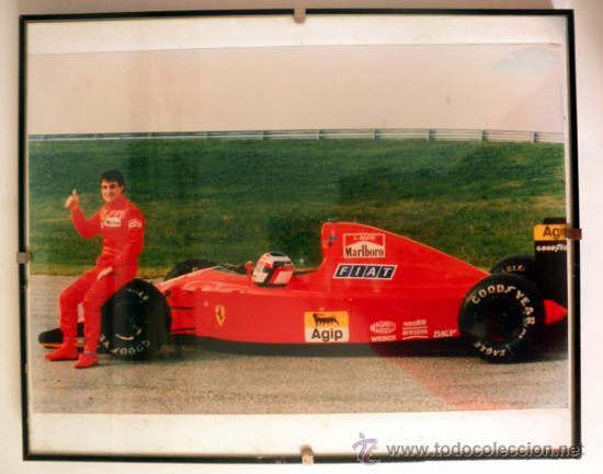 Coleccionismo deportivo: FOTOGRAFIA ENMARCADA DE JEAN ALESI FERRARI * F1 - Foto 2 - 34015371