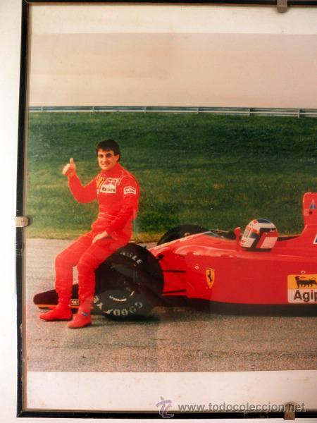 Coleccionismo deportivo: FOTOGRAFIA ENMARCADA DE JEAN ALESI FERRARI * F1 - Foto 4 - 34015371