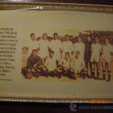 Coleccionismo deportivo: FOTOGRAFIA ENMARCADA VISITA REAL MADRID A TARREGA EN SEPTIEMBRE 1948. Lote 35983396