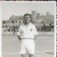 Coleccionismo deportivo: NASTIC. TARRAGONA. FOTOGRAFIA ORIGINAL. JUGADOR CARRILLO. DEDICATORIA AUTÓGRAFA. 1942. Lote 36418275