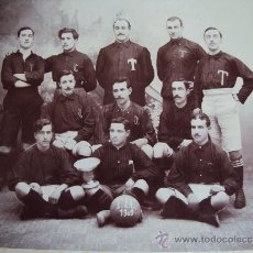 Coleccionismo deportivo: (F-216)FOTOGRAFIA DE MUSEO DEL EQUIPO DE FOOTBALL CLUB GIMNASTIC F.C.TARRAGONA AÑO 1909. Lote 36797521
