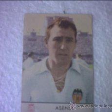 Coleccionismo deportivo: FOTOCROMO ASENSI JUGADOR DEL VALENCIA C F PUBLICIDAD CASTELLBLANC. Lote 37134570