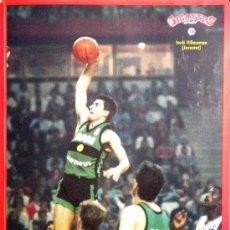 Coleccionismo deportivo: PEGATINA CROMO STICKER GIGANTES DEL BASKET JORDI VILLACAMPA JOVENTUT BADALONA BALONCESTO. Lote 38013665