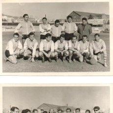 Coleccionismo deportivo: 4 FOTOGRAFIAS DE UN EQUIPO DE BARCELONA GANADOR DE COPA ENTREGADA POR MARY SAMPERE. CA.1960.19X12 CM. Lote 38454944
