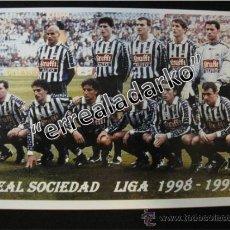 Coleccionismo deportivo: FOTOGRAFIA 15X21,5 REAL SOCIEDAD LIGA 1998-1999. Lote 38694603