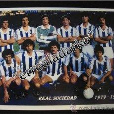 Coleccionismo deportivo: FOTOGRAFIA 15X21,5 REAL SOCIEDAD LIGA 1979-1980. Lote 39003499
