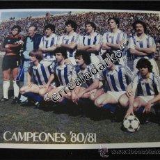Coleccionismo deportivo: FOTOGRAFIA 15X20 REAL SOCIEDAD CAMPEON DE LIGA 80 81 1980 1981. Lote 38779200