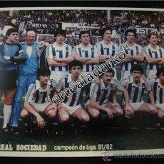 Coleccionismo deportivo: FOTOGRAFIA 15X20 REAL SOCIEDAD CAMPEON LIGA 81-82. Lote 39003548