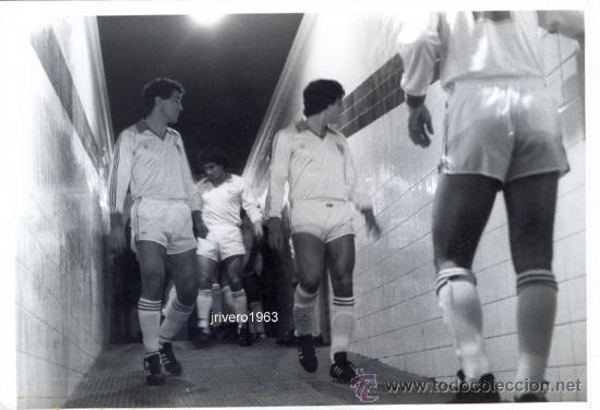 SEVILLA,F.C.,PRINCIPIOS AÑOS 80,INTERIOR TUNEL VESTUARIO,MAGNIFICA,FOT.RUESGA BONO,176X126MM (Coleccionismo Deportivo - Documentos - Fotografías de Deportes)
