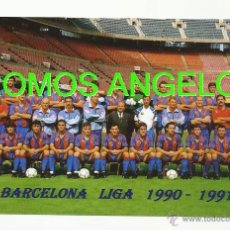 Coleccionismo deportivo: FOTO 10X15 CM - FC BARCELONA LIGA TEMPORADA 1990-1991 PLANTILLA. Lote 39448480
