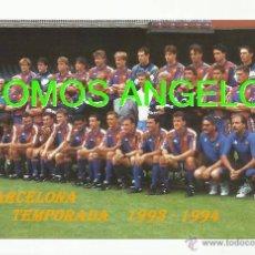 Coleccionismo deportivo: FOTO 10X15 CM - FC BARCELONA LIGA TEMPORADA 1993-1994 PLANTILLA. Lote 39448547