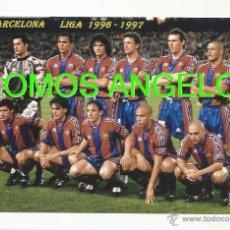 Coleccionismo deportivo: FOTO 10X15 CM - FC BARCELONA LIGA TEMPORADA 1996-1997 FOTO 2. Lote 39448587