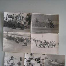 Coleccionismo deportivo: LOTE 7 FOTOS ORIGINALES DE EPOCA DE MOTOCICLISMO CARRERAS . Lote 41257516