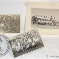 Sammelleidenschaft Sport - Conjunto de 3 Antiguas Fotografías de Futbolistas / Equipos de Fútbol - Una Postal Fotográfica. 1945 - 42840823