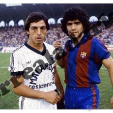 Coleccionismo deportivo: FOTOGRAFIA 15X22 F.C. BARCELONA - BURDEOS - MARADONA CON GIRESSE. Lote 44174225