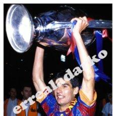 Coleccionismo deportivo: FOTOGRAFIA 15X22 F.C. BARCELONA - GUARDIOLA WEMBLEY CHAMPIONS 1992. Lote 44287774