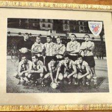 Coleccionismo deportivo: FOTOGRAFÍA ATLÉTICO BILBAO AÑOS 50 FOTO CECILIO CON FIRMAS ENMARCADA. Lote 44648161