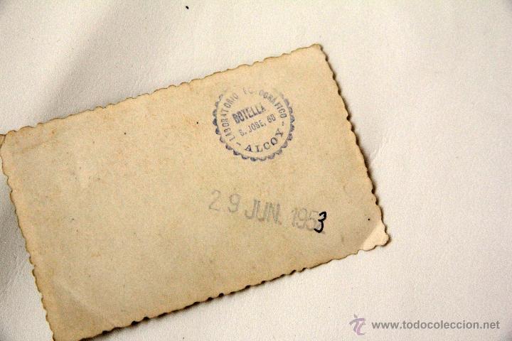Coleccionismo deportivo: ANTIGUA FOTO DEL ALCOYANO, AÑO 1953. Original y cuñada. ENMARCADA. - Foto 3 - 45244215
