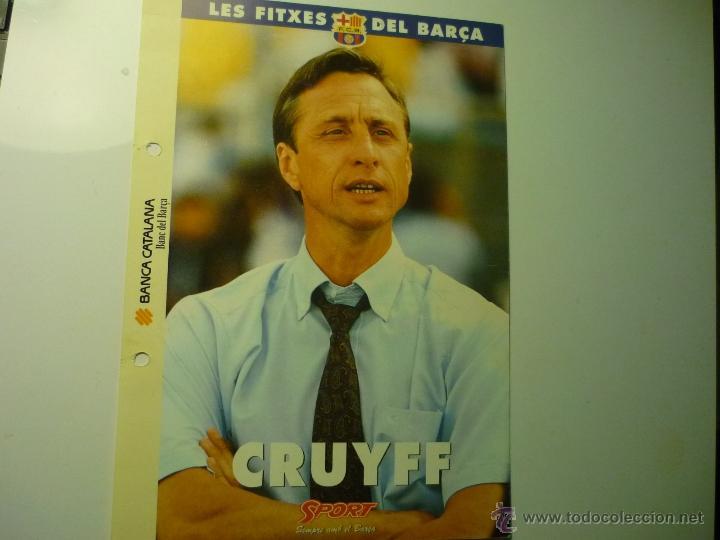 LAS FICHAS DEL BARÇA.--FUTBOL CRUYFF (Coleccionismo Deportivo - Documentos - Fotografías de Deportes)