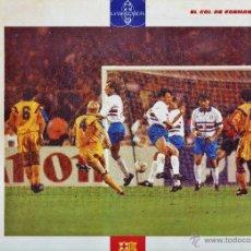 Coleccionismo deportivo: LAMINA - EL GRAN ALBUM DEL BARÇA / FC BARCELONA - Nº 52 - EUFORIA / EL GOL DE KOEMAN - LA VANGUARDIA. Lote 45303997