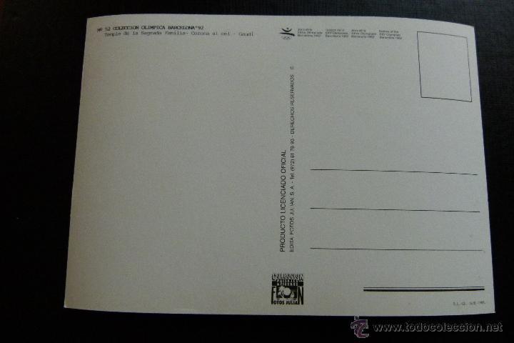 Coleccionismo deportivo: POSTAL CONJUNTO DE 3 POSTALES COLECCION OLIMPICA BARCELONA 92 Nº 52 , 63 Y 118 - Foto 4 - 45506763