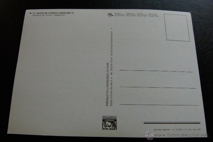 Coleccionismo deportivo: POSTAL CONJUNTO DE 3 POSTALES COLECCION OLIMPICA BARCELONA 92 Nº 52 , 63 Y 118 - Foto 6 - 45506763