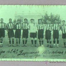Coleccionismo deportivo: FOTOGRAFIA DE UN EQUIPO DE FUTBOL MILITAR 4ª ZAPADORES MINADORES 1922 CAMPEON. Lote 45827369